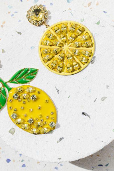 Lemon Long Earrings