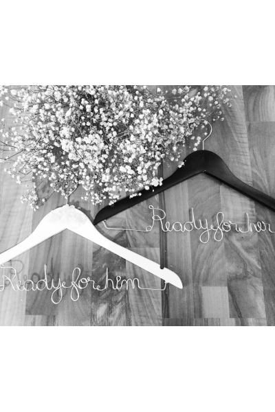 Customized Wedding Hanger With Name And Date