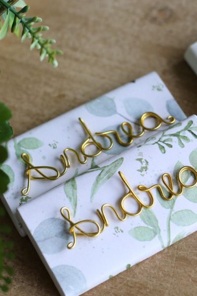 Customized Wire Words Or Patterns For Chocolate