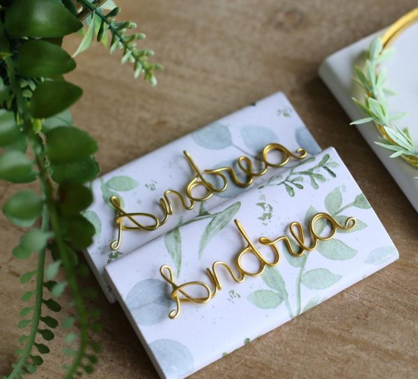 Customized Wire Words Or Patterns For Chocolate – Pack of 6