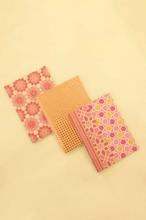 Pack of 3 Pink Notebook