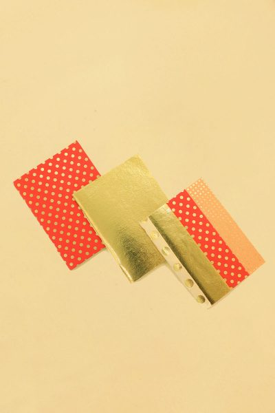 Pack of 3 Red Gold Dot Notebook