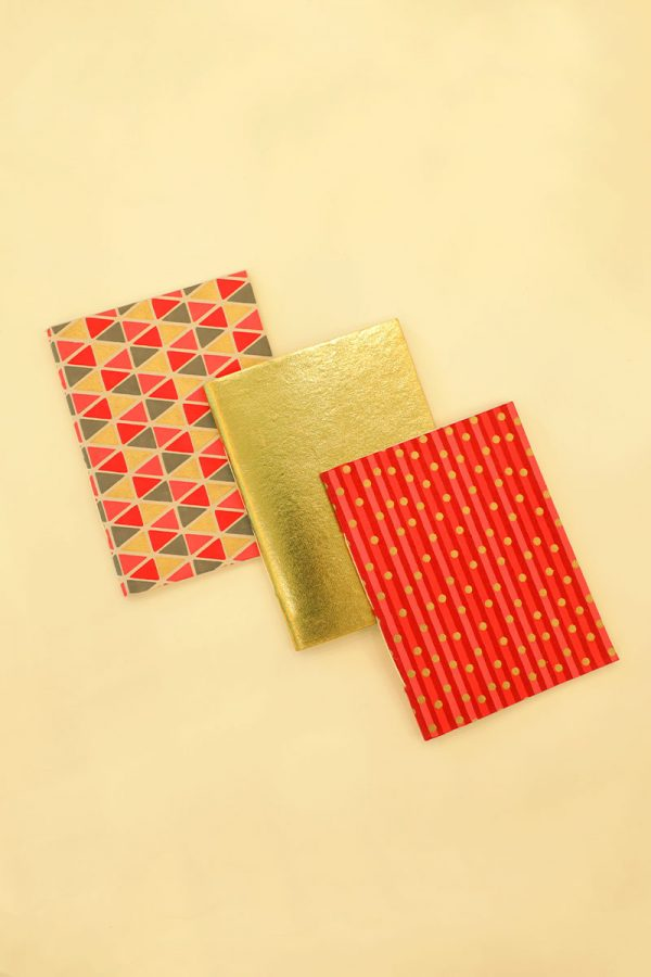 Pack of 3 Red Dot Notebook