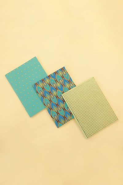 Pack of 3 Blue Notebook