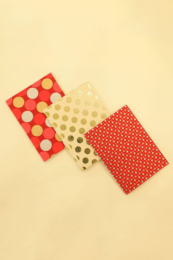 Pack of 3 Red Notebook