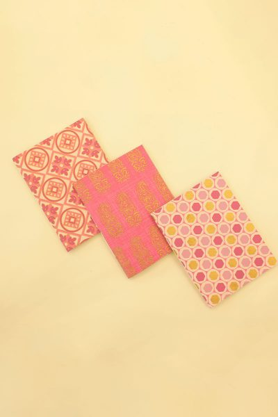 Pack of 3 Pink Gold Notebook