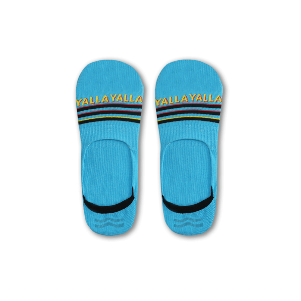 Blue Yalla Socks (Invisible)