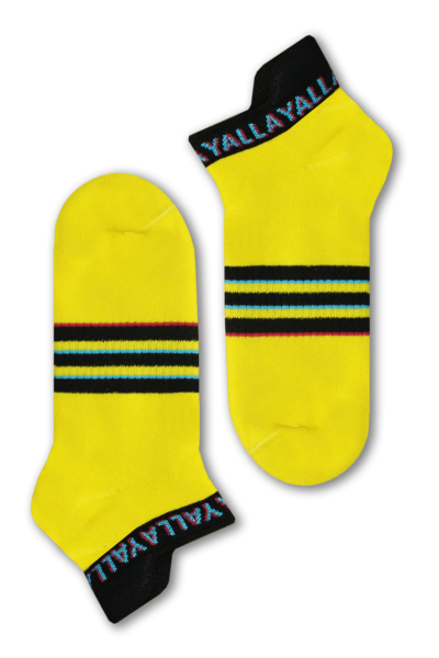 Yellow Yalla Socks Short