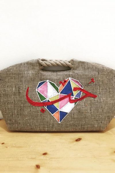 "Beach Bag ""Hobb"" Word Calligraphy"
