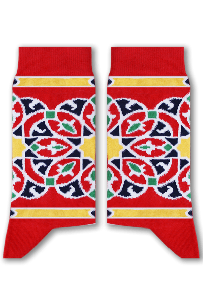 Red Khayamiya Socks