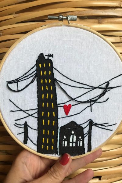 Embroidered Beirut Love