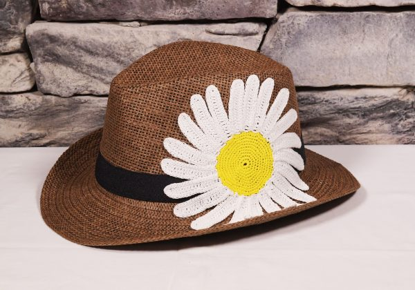 Brown Base Hat Knitted Margueritte