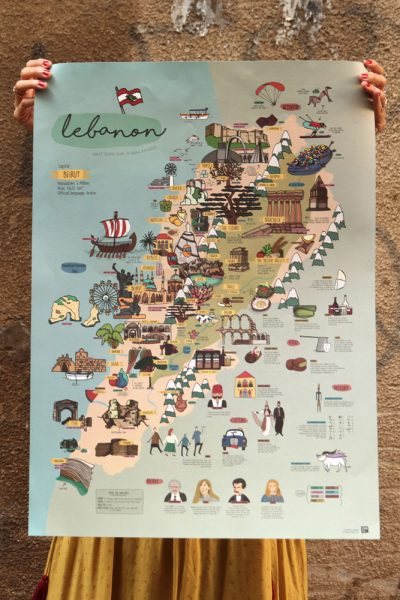 Lebanon Map Poster