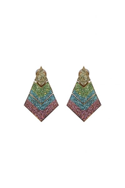B.O Pyramid Earrings