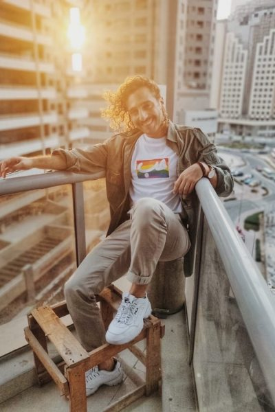 White Rainbow Pride Hob T-Shirt