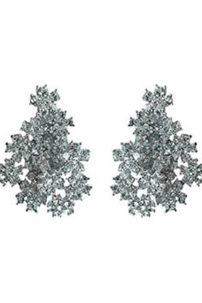 B.O Flower Strass Earrings