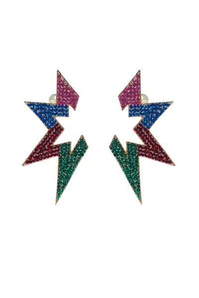 B.O Crown Multicolor Earrings