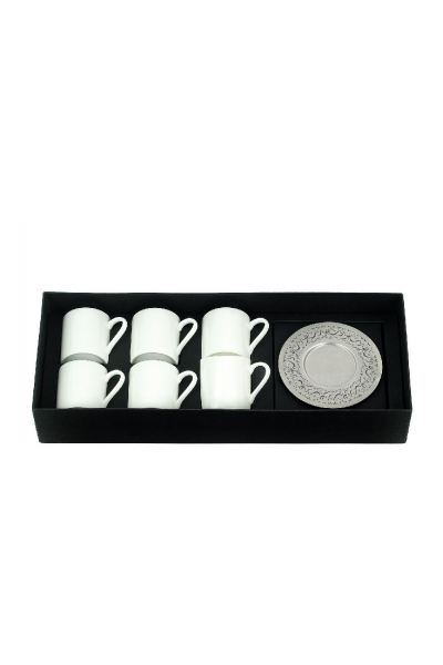 Hollow Nawwarit Espresso Cup With Saucers (Set of 6)