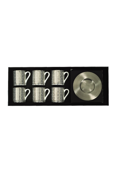 TRI Espresso Cup With Saucers (Set of 6)