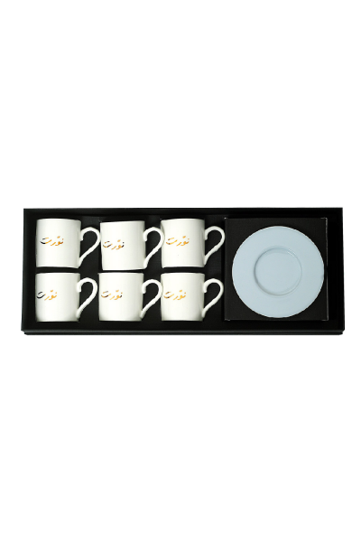 Nawwarit Espresso Cup With Saucers (Set of 6)