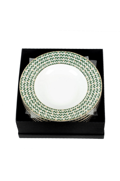 Swirl Green Plate Set Of 6