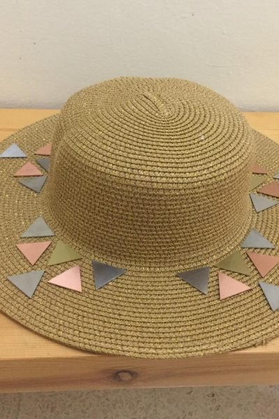 Gold Hat With Triangles