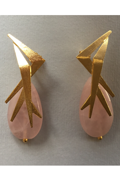 Gold Light Pink arrings