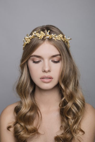 Under The Olive Tree 6 Gold Headpiece