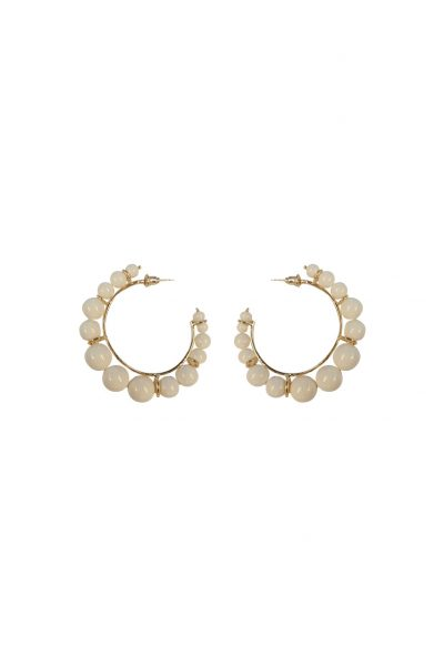 Olympia White Earrings