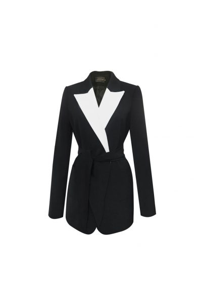 ASHLEY Black White BLAZER