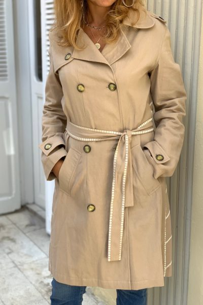 The City Beige Trench Coat