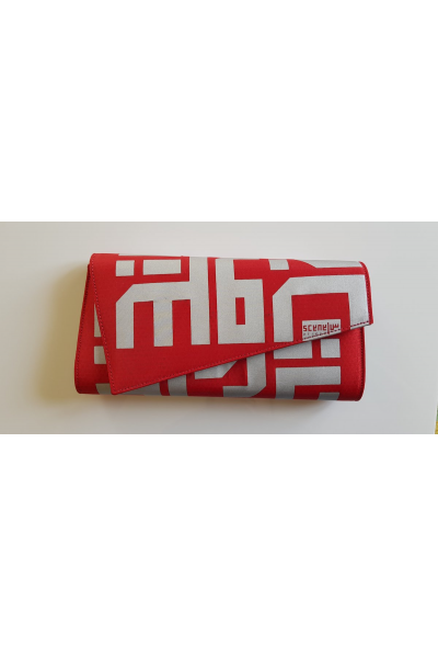 Red Diagonal Beirut Clutch