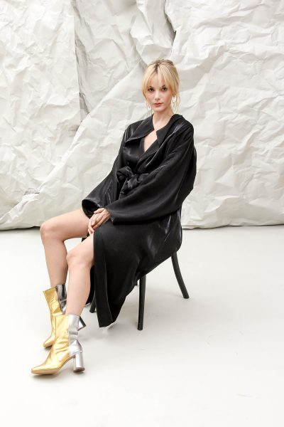 Natasha Black Trench Coat