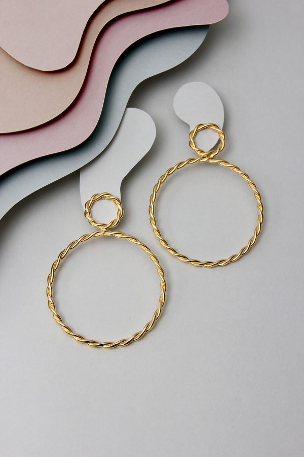 The Double Circle Earrings
