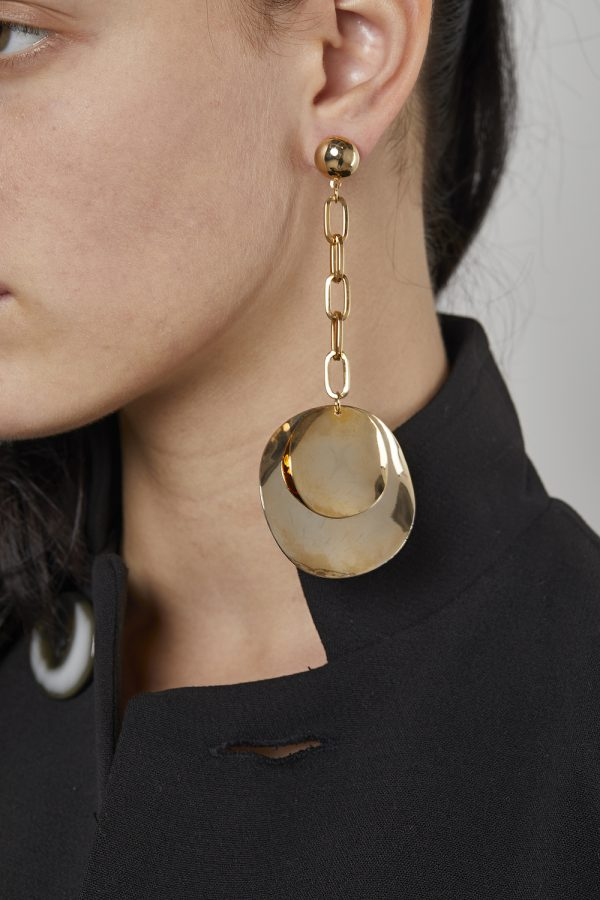Long Earrings Plate Gold-Plated 3Microns