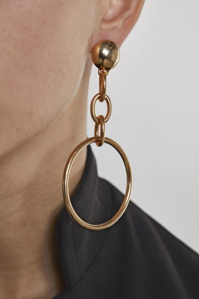 Long Earrings Créôles Gold-Plated 3Microns