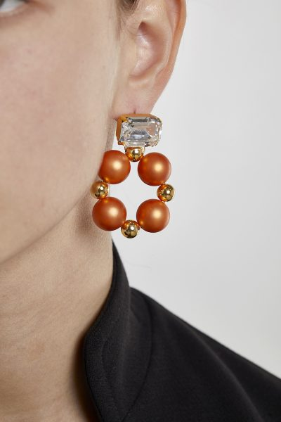 DAVINA'S ORANGE EARRING