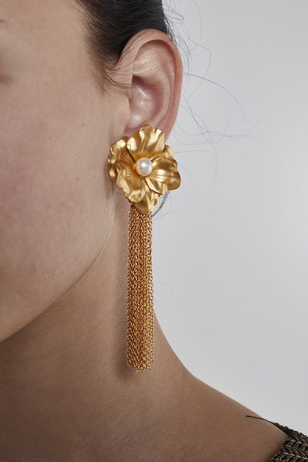 Golden Long Earrings