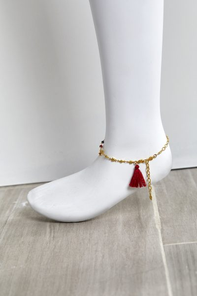 Golden Red Anklet
