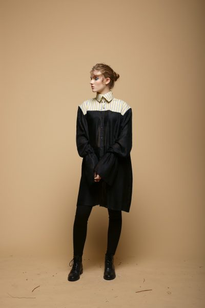 The Pleated High Neck Shirt