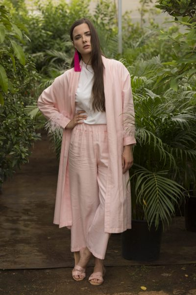 Pink Feather Co-ord Set