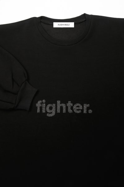 The Fighter Top Black Glitter