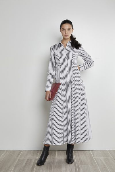 Black Long Striped Dress