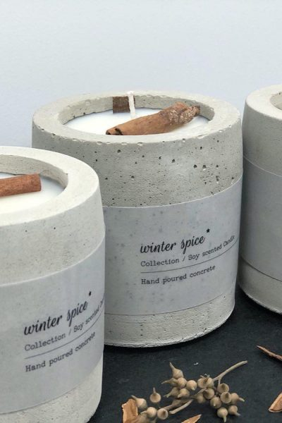 Cement Candle | Winter Spice Scent