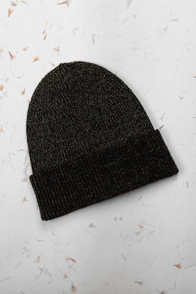 Black Gold Beanie Hat