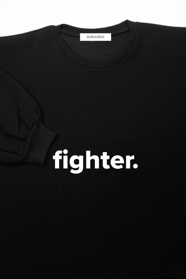 The Fighter Top Black & White