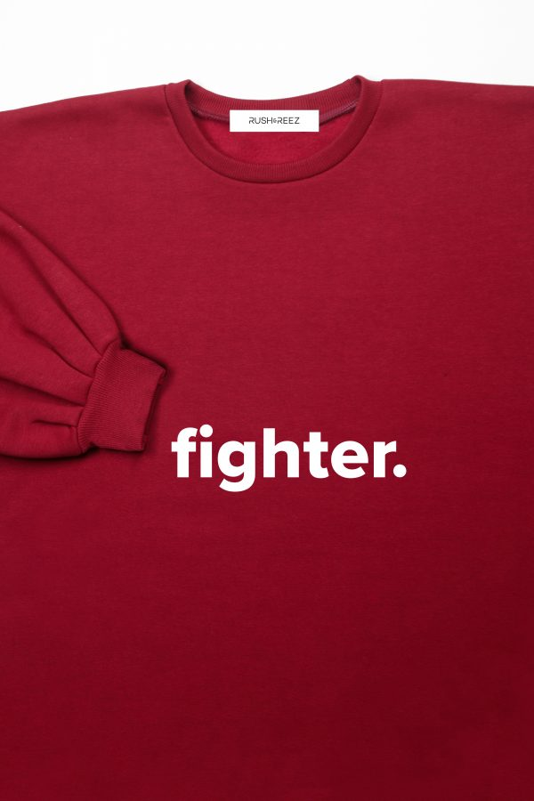 The Fighter Top Oxblood