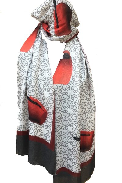 Red Tarbouch Scarf