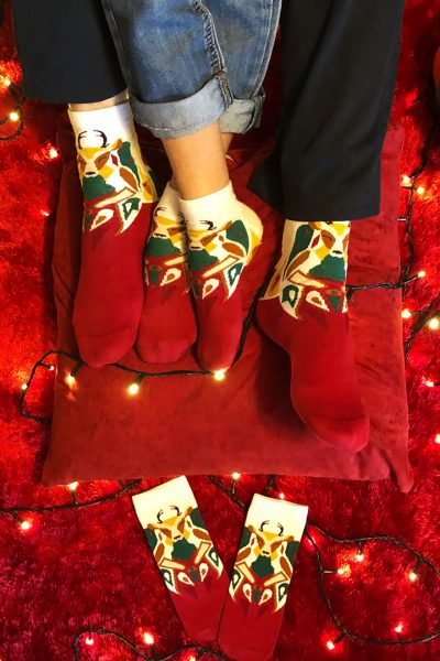 Reindeer Socks Set 1xAdult And 1 x Kid