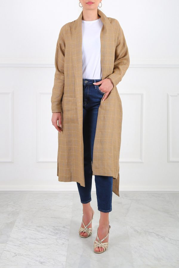 Ray Linen Tan Cardigan